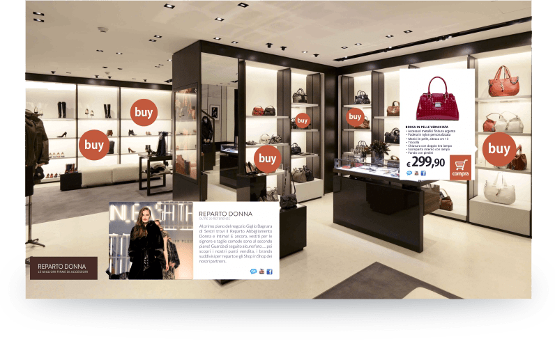 call to actions integrate nel virtual tour Vidipla